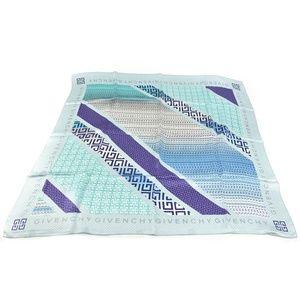 GIVENCHY: Pale Blue, Logo Silk, Scarf/Foulard (nm)